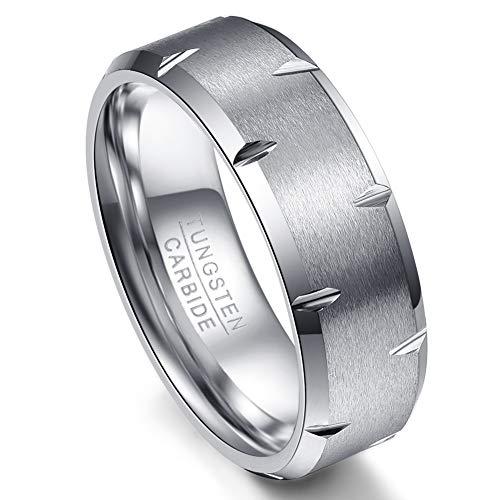 af2ae6a358936 VAKKI Unisex Mujer Hombre Tungsten Carbide tungsteno