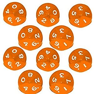 Febbya Dice D10,Polyhedral Dice Set 10 Pack for DND MTG RPG Dungeons and Dragons Dice Game Table Games Dice Acrylic