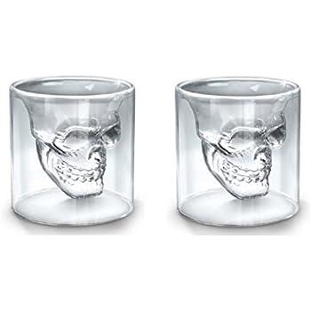 Fred DOOMED Skull Shot Glass: 3dsupply: Amazon.co.uk: Kitchen & Home