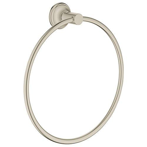 Preisvergleich Produktbild Grohe Essentials Authentic Handtuchring,  nickel gebürstet,  40655EN1