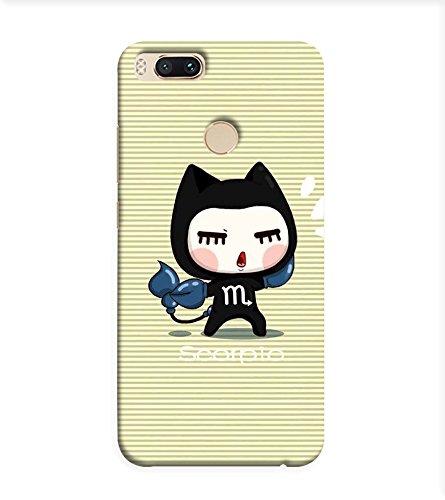 OBOkart Funny cartoon 3D Hard Polycarbonate (Plastic) Designer Back Case Cover for Xiaomi Mi A1