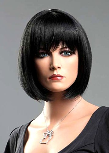 Forever Young Ladies Short Black Wigs in Classic BOB STYLE by Forever Young