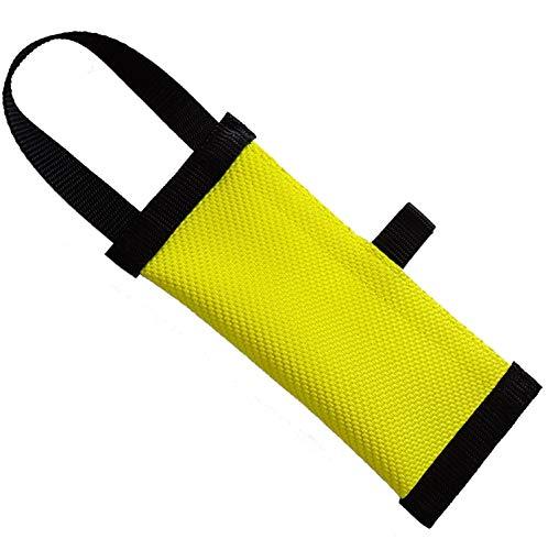 Dog24 Hunde-Futterdummy / Trainingsdummy / Feuerwehrschlauch / Apportier-Tasche für Leckerlies und Hundesnacks, ideal fürs Apportier-Training / Futterbeutel / Leckerlie-Beutel / Apportier-Spielzeug / schwimmfähig / Preydummy / Snack Dummy (XL (27cm))