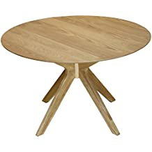 Mesas redondas de comedor madera for Mesas redondas de madera