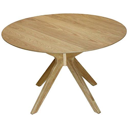 Foto de DonRegaloWeb - Mesa de comedor redonda de madera en color roble