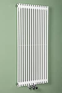 Termosifone Dippio Termoarredo Verticale di Design Moderno 1000 x 450mm Bianco