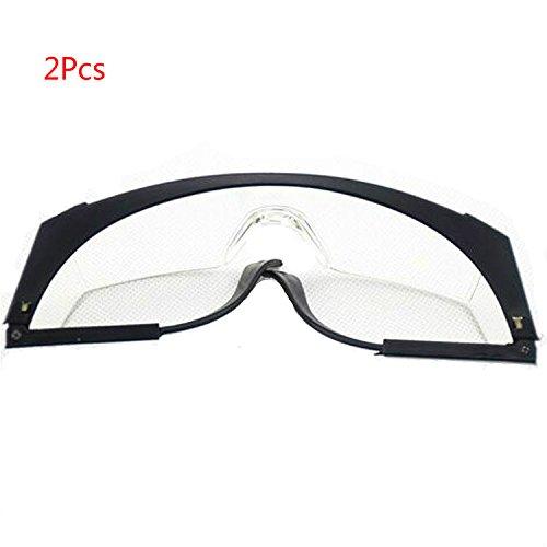Yalulu 2Pcs Noir Lunettes de protection des yeux pour pistolet-jouet Nerf Gun N-strike Elite Series avec