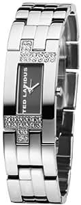 Ted Lapidus - D0446RNNW - Montre Femme - Quartz Analogique - Cadran Noir - Bracelet Acier Argent