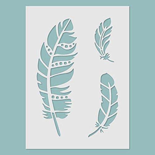Schablone - Feather. Schablone, Stencil
