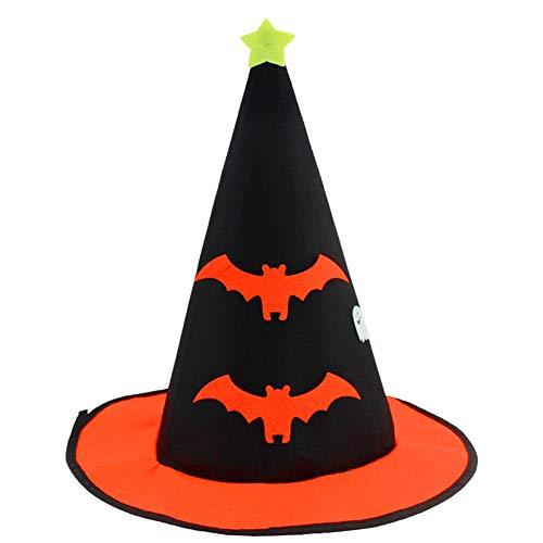 Kostüm Bat Dress Fancy - LTSWEET DREI Stücke Hexen Hut Halloween Décoration Costume Zubehör Karneval Cosplay Kostüm Stirnband Fancy Dress Party Kostümzubehör Geeignet für Kinder,Bat