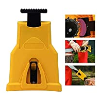 YuCool Chainsaw Sharpening Kit - Fast-Sharpening Stone Grinder Tool Chain Saw with Two Holes