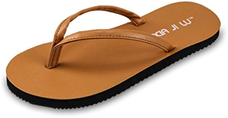 Unisex   Erwachsene Pantoletten Rund Toe Flip Flops Strandschuhe Zehentrenner Sommer Entspannt Sandaletten