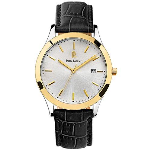 Pierre Lannier-231G023 Classic-Elegance-Reloj hombre cuarzo, analógico,-Correa de cuero, color negro