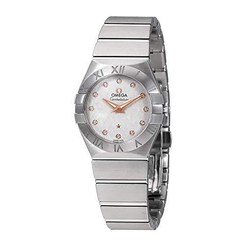 Omega Constellation Silver Diamond Dial Ladies Watch 123.10.27.60.52.001