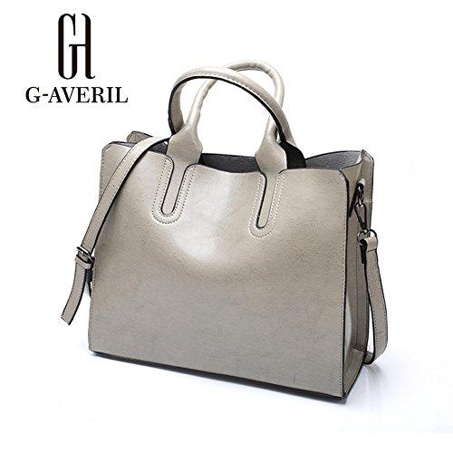 G-AVERIL, Borsa a mano donna Marrone Brown Grey