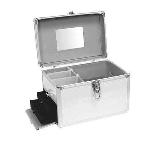 Beauty Case Silber (Aluminium Schmuckkoffer Kosmetikkoffer Schminkkoffer Beauty Case Silber)