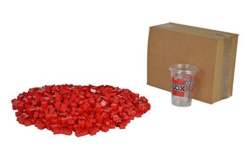 Simba 104114117 - Blox 1000 4er Steine, Spiel, rot