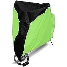 Echi Bike Cover, exterior 190T Nylon impermeable bicicleta cubierta con lockhole para bicicleta de montaña, bicicleta de carretera, eléctricas y bicicletas Cruiser, verde, large