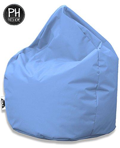 Patchhome Sitzsack Tropfenform Hellblau für In & Outdoor XL 300 Liter - mit Styropor Füllung in 25...