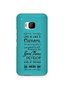 AMEZ life is like a camera Back Cover For HTC One M9
