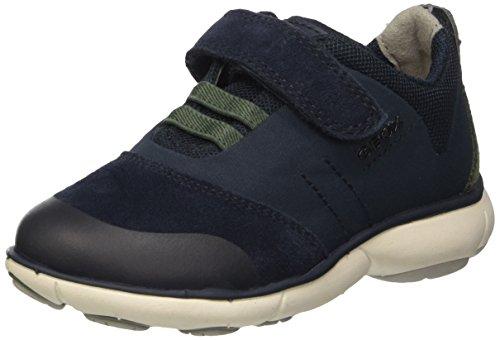 Geox J Nebula A, Sneakers Basses Garçon Bleu (Navy/greenc4248)
