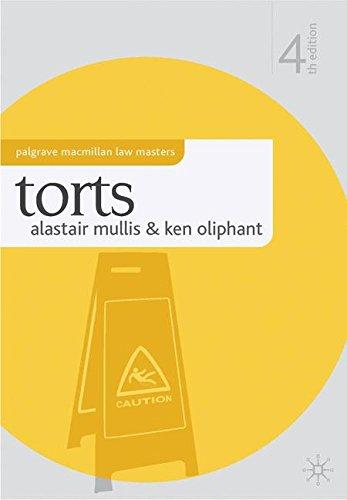 Torts (Palgrave Macmillan Law Masters)