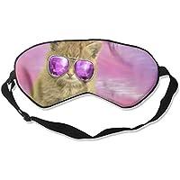 Eye Mask Eyeshade Sunglasses Cat Sleeping Mask Blindfold Eyepatch Adjustable Head Strap preisvergleich bei billige-tabletten.eu