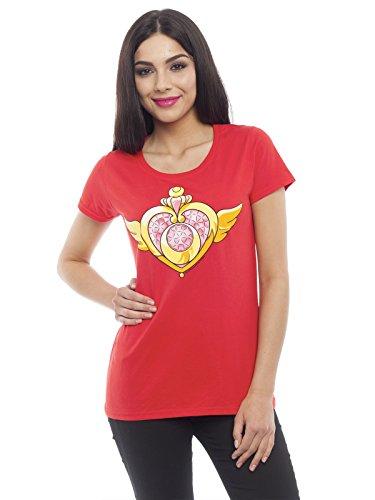 Sailor Moon Jewel Heart Maglia donna rosso L