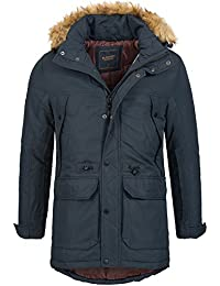 S!RPREME Hommes chaud doublé Parka Veste à capuche Manteau d'hiver Veste Transitional veste extérieure Veste à capuche 9991 Noir Bleu M L XL XXL