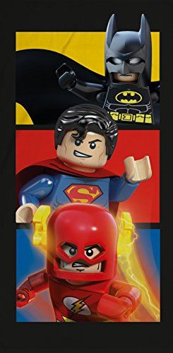 LEGO DC Superheroes Boom algodón playa toalla de baño Superman Flash Batman