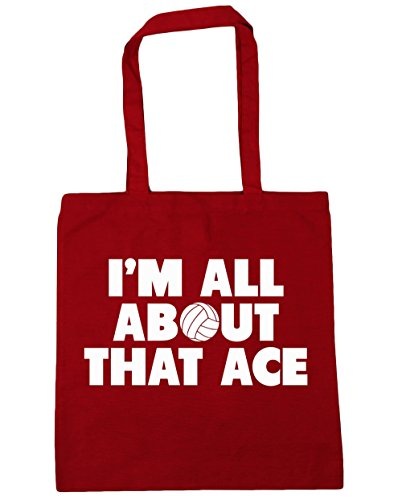hippowarehouse-im-all-about-that-ace-tote-shopping-gym-beach-bag-42cm-x38cm-10-litres