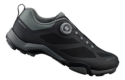 Shimano Scarpe MTB Nere 44 SPD MT7 Black Uomo Mountain Bike Ciclismo (43 EU)