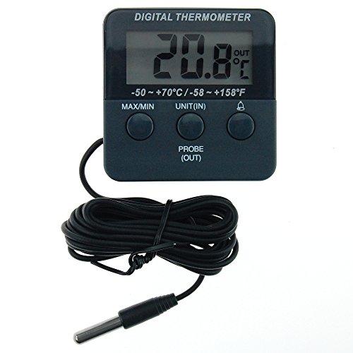 Thermometer World Thermomètre digital pour réfrigérateur/congélateur avec fonctions d'alarme et réglage de température max./min.