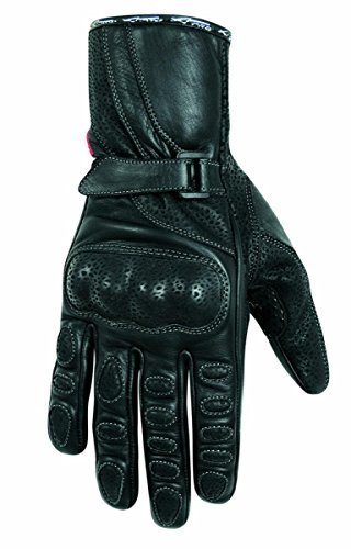 A-Pro Motorcycle Motorbike Soft Leather Sport Ladies Gloves Touring Padded Black S