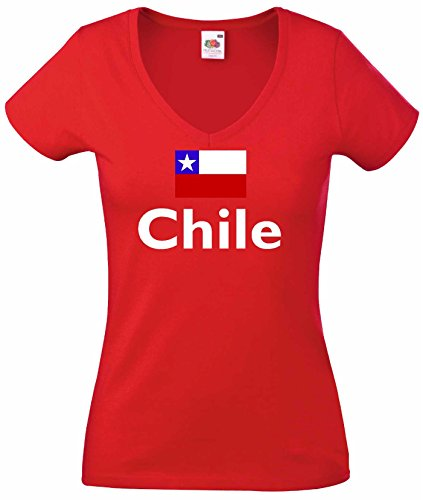 world-of-shirt Damen T-Shirt Chile|r-xs