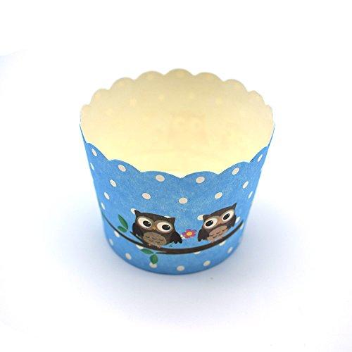 GOOTRADES 100 Stk Cupcake Wrapper Papier Kuchen Fall Backförmchen Liner Muffin Dessert