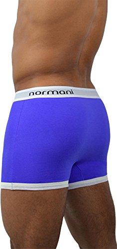 4 x Herren Soft Boxershorts - sehr angenehmes Tragegefühl - von normani® Retro/Blau