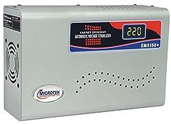 Microtek EM5150+ For AC upto 2 Ton (150V-290V) Digital Voltage Stabilizer (Grey)