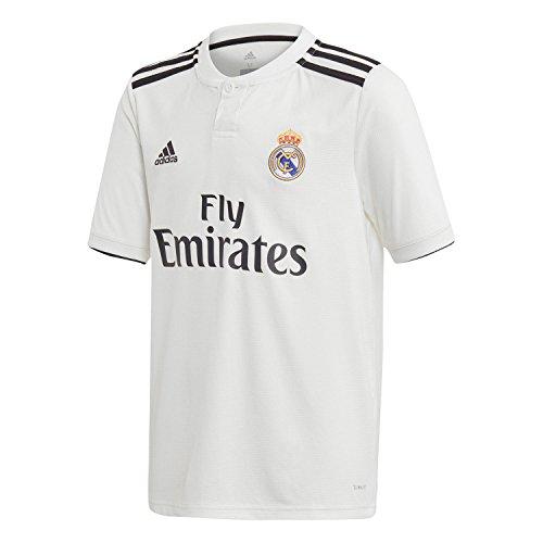 e20105bf54975 adidas Camiseta Real Madrid Primera Equipación 2018-2019 Niño White-black  Talla 176