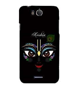 Fuson Premium Artistic Krishna Printed Hard Plastic Back Case Cover for INFOCUS M530