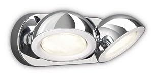 Philips 531221116 Glance Beleuchtung, Chrom, 2 x 9 W