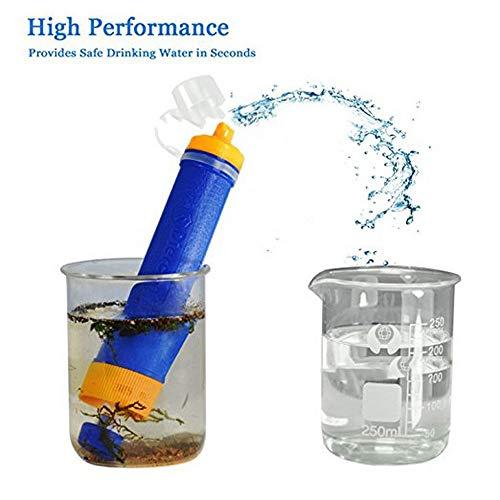 LKSDD Wasserreiniger für die Reise, kampierender tragbarer Filter-Saugrohr-Wilder Wasserreiniger im Freien, Miniaturwasserfilter - Arsen-entfernung