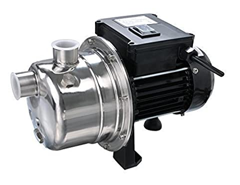Lanchez JGP80019WU INOX 1/2 HP Portable Stainless Steel and Cast Iron Utility Shallow Well Jet Water Pump for Clean Water 25 Feet by
