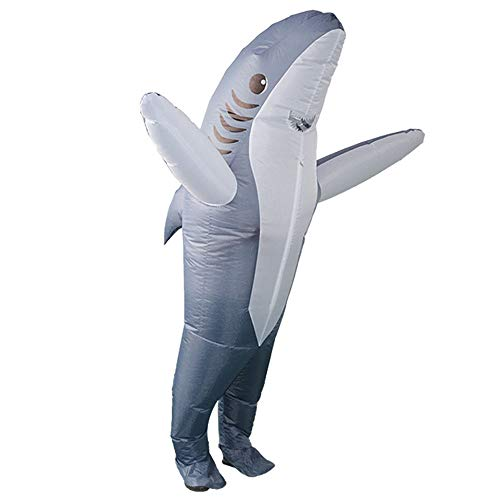 Edelehu Große Hai-Performance-Anzug Halloween Aufblasbare Cosplay Kleid Wild Aufblasbare Kostüm Geeignet Für Geburtstags Clubs Partys Schnelle Inflation Erwachsene Größe