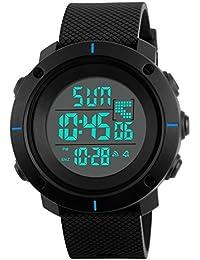 Niños Digital Relojes para niños - 5 ATM impermeable de los deportes reloj con alarma Cronógrafo Cronómetro de cuenta atrás, para niños al aire libre electrónico muñeca reloj para adolescentes