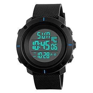 Kinder Digitaluhren für Jungen – 5 Bar Wasserdichte Sportuhr Uhren mit Wecker Chronograph Countdown, Kinder Outdoor elektrische Armbanduhr mit LED Hintergrundbeleuchtung für Teenager