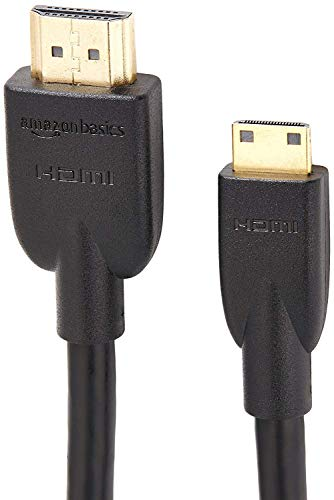 AmazonBasics High-Speed Mini-HDMI (NOT Micro USB/Micro HDMI) to HDMI Cable - 3 Feet (Latest Standard)- NOT Compatible with Mobile Phones