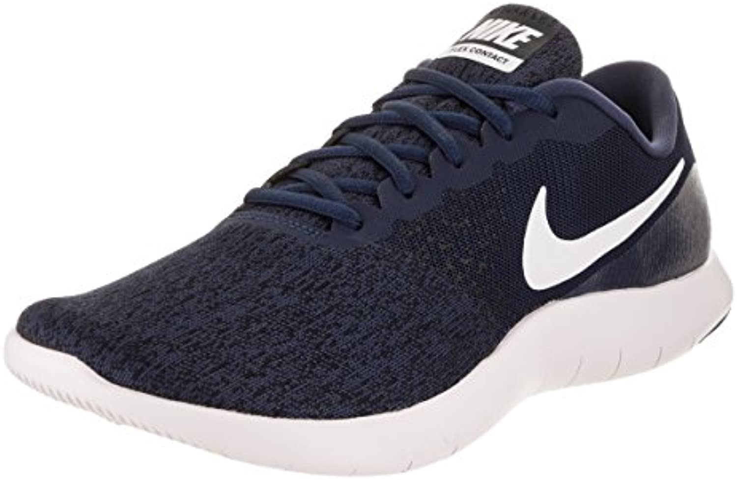 NIKE Men's Flex Contact Midnight/Navy/White/Black Running Shoe 9.5 Men US