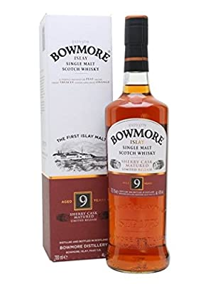 Bowmore 9 Year Old Sherry Cask Matured Whisky, 70cl