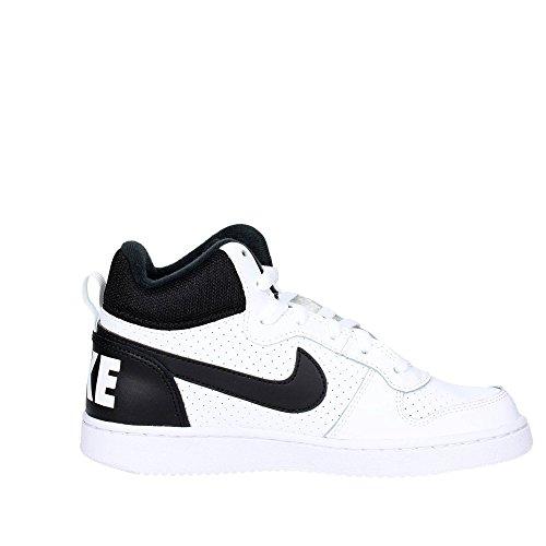 Nike Court Borough Mid (Gs), Scarpe da Basket Uomo Bianco (White/Black)